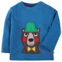 Frugi Bear Discovery Applique Top