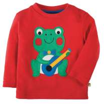 Frugi Frog Discovery Applique Top