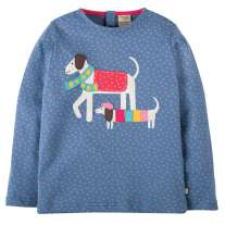 Frugi Dog Erin Applique Top