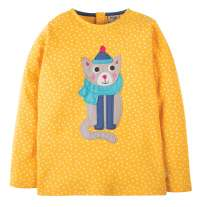 Frugi Cat Erin Applique Top