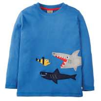Frugi Shark Joe Applique Top