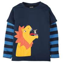 Frugi Lion Look Out Applique Top