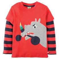 Frugi Rhino Look Out Applique Top