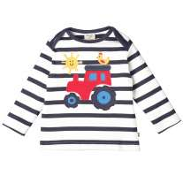 Frugi Tractor Bobby Applique Top
