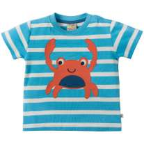 Frugi Crab Little Fal Applique T-shirt