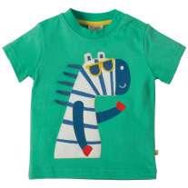 Frugi Zebra Little Polkerris Applique T-Shirt