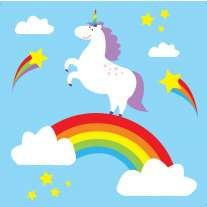 Babipur Rainbow Unicorn Greetings Card