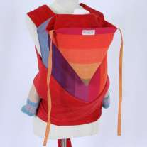 Wompat Toddler Meh Dai Carrier - Girasol Earthy Rainbow