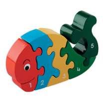 Whale Wooden Jigsaw 1-5