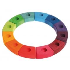 Grimm's 12-Piece Rainbow Ring