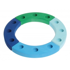 Grimm's 12-Hole Blue-Green Wooden Ring
