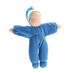 Grimm's Blue Soft Waldorf Doll