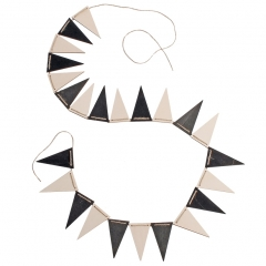 Grimm's Monochrome Pennant Banner Bunting