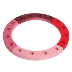 Grimm's 16-Hole Pink - Red Wooden Ring