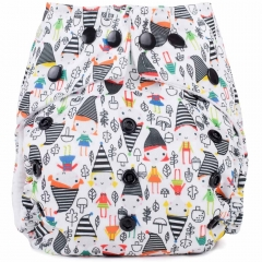 Baba + Boo One Size Nappy - Elf town