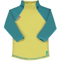 Pop-In LS Rash Vest Mustard / Teal