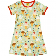 DUNS Adult Ice Cream Pistage A-Line SS Dress