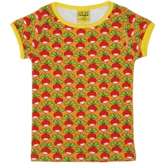 DUNS Adult Orange Yellow Radish SS Top