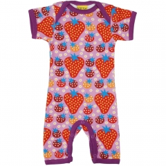 DUNS Purple Strawberry Field Summer Dungarees