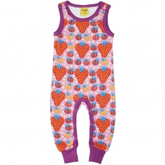 DUNS Purple Strawberry Field Dungarees