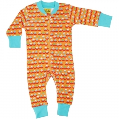 DUNS Orange Sailing Boats LS Zip Suit