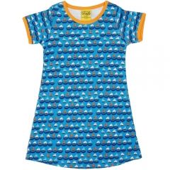 DUNS Blue Sailing Boats SS Dress