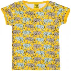 DUNS Elephant Walk Yellow SS Top