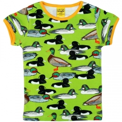 DUNS Adult Flash Green Duck Pond SS Top