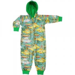 DUNS Teal Seaweed Lined Hooded Suit