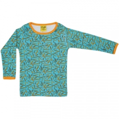 DUNS Adult Turquoise Pencils LS Top