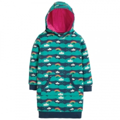 Frugi Above The Clouds Harriet Hoody Dress