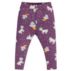 Frugi Amethyst Unicorn Libby Printed Leggings