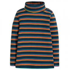 Frugi Multistripe Ava Stripe Roll Neck Top