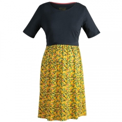 Frugi Bloom Mustard Spring Floral Hotchpotch Dress