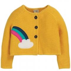 Frugi Cloud Little Annie Applique Cardigan