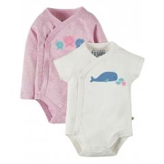 Frugi Whale Cuddly Kimono x 2