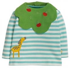 Frugi Giraffe Tip Top & Bib Set