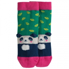 Frugi Jade Leaf Panda Perfect Pair Socks