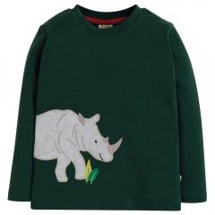 Frugi Rhino Joe Applique Top