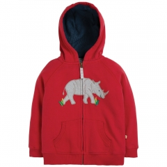 Frugi Lucas Zip Up Rhino Hoody