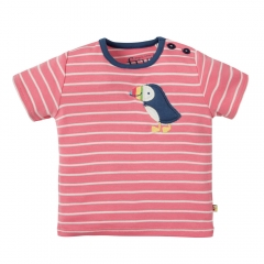 Frugi Puffin Wilbur Applique T-Shirt