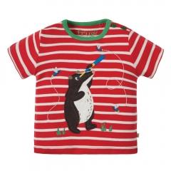 Frugi Badger Atlantic Applique T-Shirt