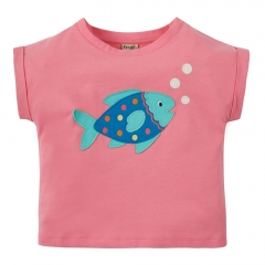 Frugi Fish Bella Boxy T-Shirt