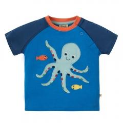 Frugi Octopus Renny Raglan Top