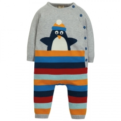 Frugi Penguin Cosy Knitted Romper