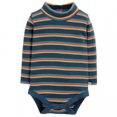 Frugi Poppy Multistripe Roll Neck Body