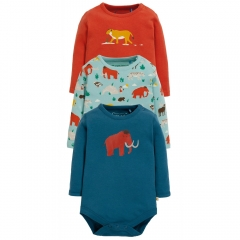 Frugi Prehistoric Super Special Body 3 Pack