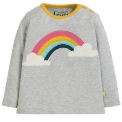 Frugi Rainbow Button Applique Top