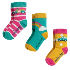 Frugi Rainbow Little Socks 3 Pack
