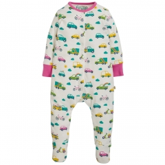 Frugi Rainbow Roads Lovely Babygrow